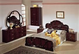 modrest serena traditional italian mahogany bedroom set