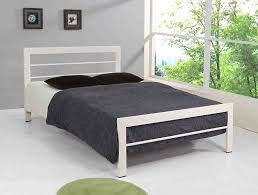 Small Bed Frames White Bed Frame Happy Beds High Foot End Contemporaryhite