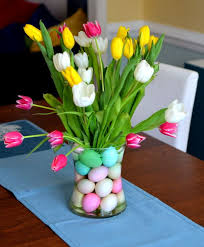 table decorations for easter easter decorating ideas with glass vas and flowers and dining