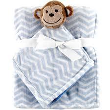 Sock Monkey Baby Bedding Child Of Mine Newborn Plush Baby Blanket Lamb Walmart Com