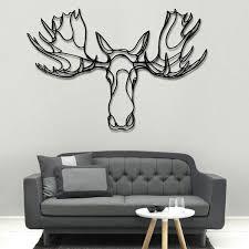Moose Head Wooden Wall Art Designer Wood Wall Decor - Wall art designer