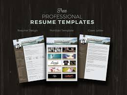 free modern resume template free professional modern resume cv portfolio page cover