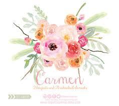 wedding flowers png watercolor clipart floral png wedding bouquet arrangement