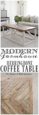 modern farmhouse herringbone coffee table home u0026 design