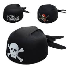 unisex halloween pirate captain skull hat costume party cosplay