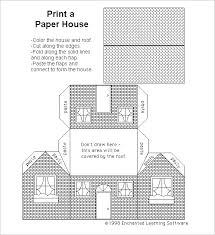 printable model house template paper house template 19 free pdf documents download free
