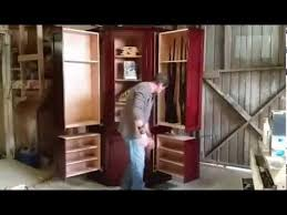 Built In Gun Cabinet Plans Monster Hidden Gun Cabinet By Ferrall U0027s Woodworks Youtube