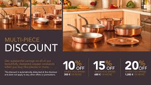 discount cuisine falk copper cookware multi discount