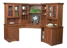 Partner Desk With Hutch Large Computer Desks For Home Amish Corner Desk Hutch Bookcase