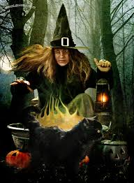 halloween coldren background the witch the cauldron the cat by kimsol on deviantart