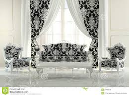 modern furniture in baroque design royalty free stock photo