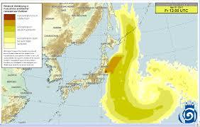 Fukushima Radiation Map Radioactivity Forecast For The Fukushima Daiich