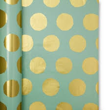 polka dot wrapping paper target sugar paper mint with gold dots gift wrap put in box w shredded