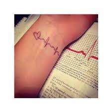 2pcs heartbeat tattoo inknart temporary tattoo wrist quote t