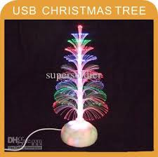 Christmas Tree With Optical Fiber Lights - usb colorful dynamic light optical fiber christmas tree gift xmas