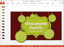 animated ornaments powerpoint template