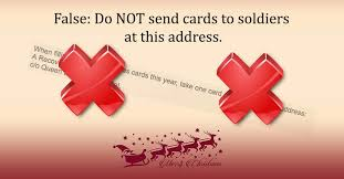do not send cards for recovering soldiers to