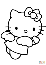 hello kitty angel coloring page free printable coloring pages