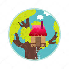 Tree House Home by Tree House Home Sweet Home Achievement U2014 Stock Vector