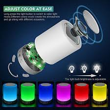 elecstars led touch bedside l led touch bedside l elecstars bluetooth speaker dimmable