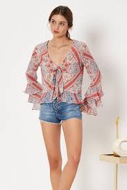 scarf blouse winnie blouse in bandana scarf tularosa
