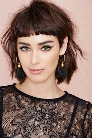 haircut for fine curly hair short hairstyles short shaggy hairstyles with bangs for fine hair