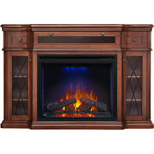 napoleon colbert 65 inch electric fireplace antique mahogany