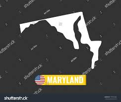 maryland map vector maryland map isolated on black background stock vector 779070484