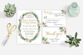 Succulent Wedding Invitations Watercolor Succulent Wedding Invitation Printable Diy