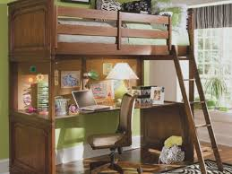 bedroom bunk bed with table underneath bunk bed with desk