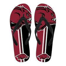 gifts for razorback fans arkansas razorbacks fan gift two main colors flip flops best funny
