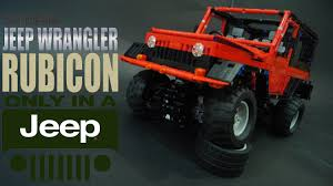 lego jurassic park jeep wrangler instructions lego technic rc jeep wrangler rubicon youtube