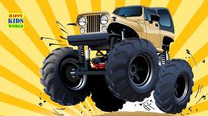 monster truck happy kids