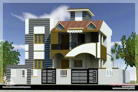 Modern Home Designs by Modern House Front Side Design India Elevation Design 3d Ideas