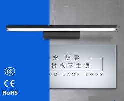 Schlafzimmer Lampe Schwarz Schwarz Moderne Kurze Führte Spiegelleuchte Bad 100 Cm Lampe