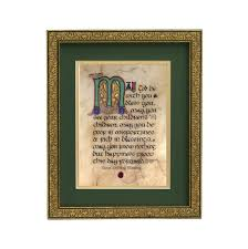 wedding blessing celtic wedding blessing manuscript 8x10 plaque crossroads