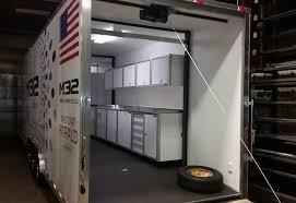 race car trailer cabinets photos of trailer vehicle lightweight aluminum cabinets moduline