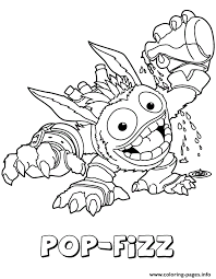 skylanders giants magic series1 pop fizz coloring pages printable