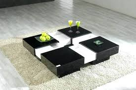 white and black coffee table u2013 capsuling me