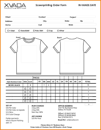 t shirt order form template tristarhomecareinc doc vid vawebs