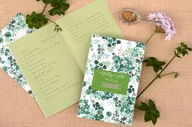 wedding ceremony program paper diy tutorial seed packet wedding ceremony program