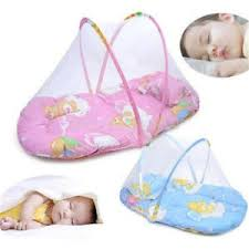 Folding Baby Bed Small Portable Baby Bed Crib Folding Mosquito Net Infant Cushion