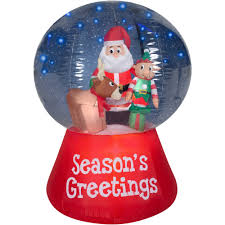 Air Blown Christmas Decorations Gemmy Airblown Inflatables Christmas Inflatable Snowglobe With