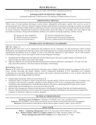 resume exles information technology manager requirements information technology resume it manager of director sle