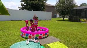 kids backyard mini swimming pool playtime 2015 youtube