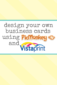 How To Do Business Cards Brenda U0027s Blog Tips Make Your Own Business Cards With Picmonkey