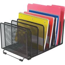 Rotating Desk Organizer by Quill Brand Black Wire Mesh Super Sorter Quill Com
