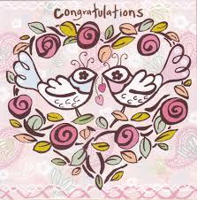 Engagement Congratulations Card Birds U0026 Heart Congratulations Card Karenza Paperie