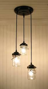 farmhouse chic in light of pinterest jar chandelier