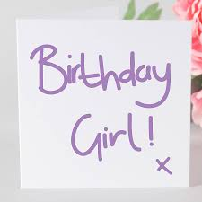birthday girl contemporary birthday girl card by megan notonthehighstreet